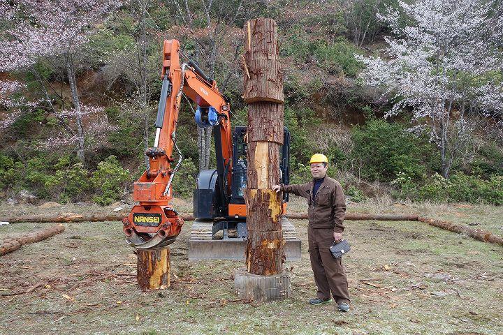 木こり技能大会 グラップル競技